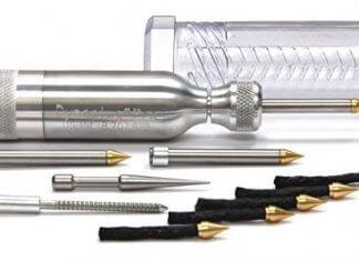 Dynaplug Pro - Kit di riparazione pneumatici tubeless, in alluminio